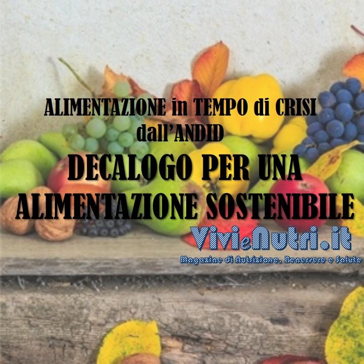 Decalogo per un'alimentazione sostenibile