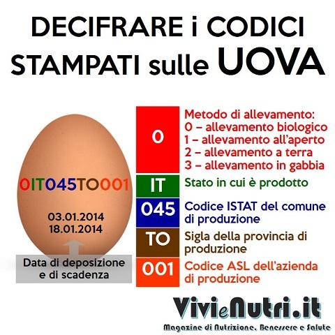 decifrare i codici sulle uova