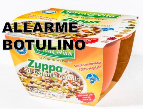 Allerta Botulino: Zuppa legumi e cereali
