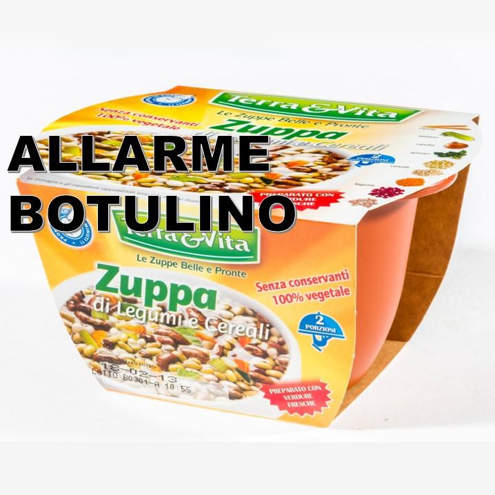Zuppa di legumi e cereali, presenza di tossina botulinica