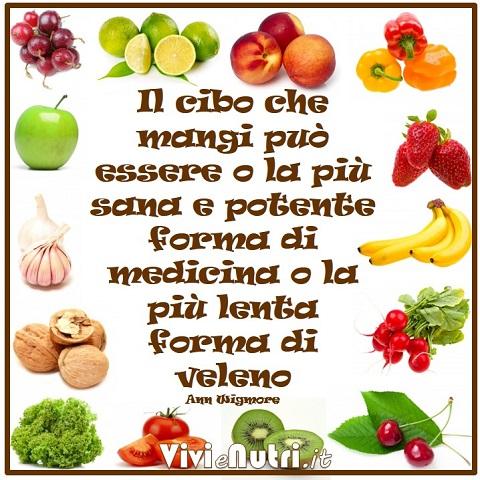 """""""Il cibo che mangi può essere o la più sana e potente forma di medicina o la più lenta forma di veleno"""""""