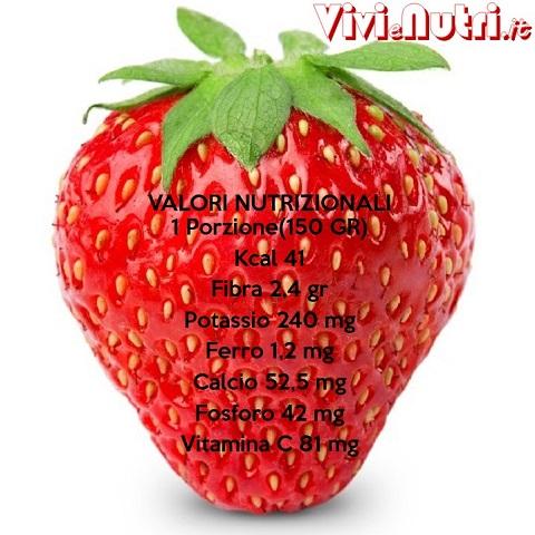 valori nutrizionali fragole