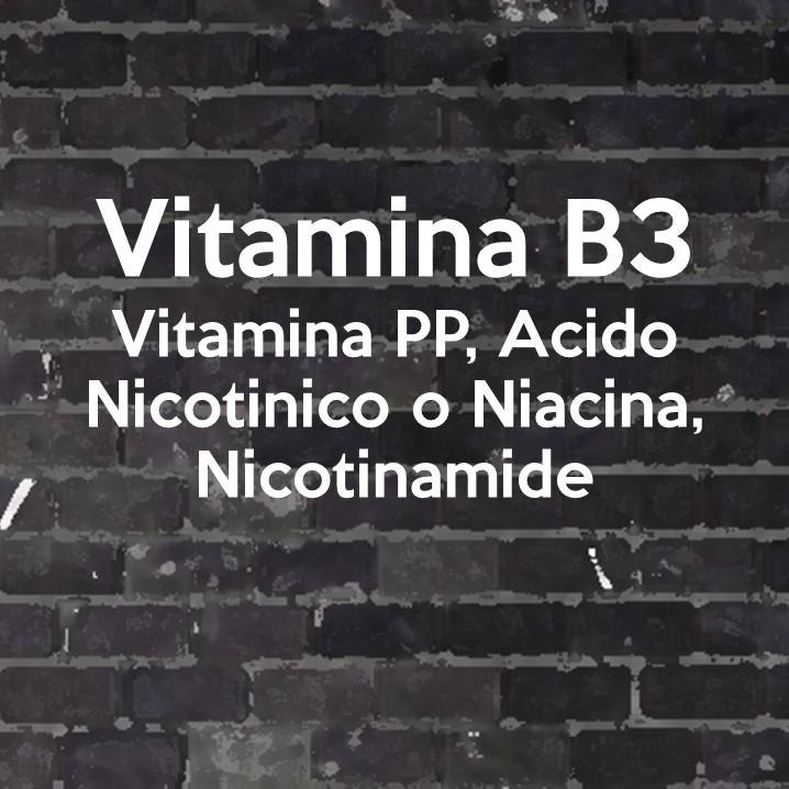 a niacina, o vitamina B3 è detta anche vitamina PP: Pellagra Preventive.