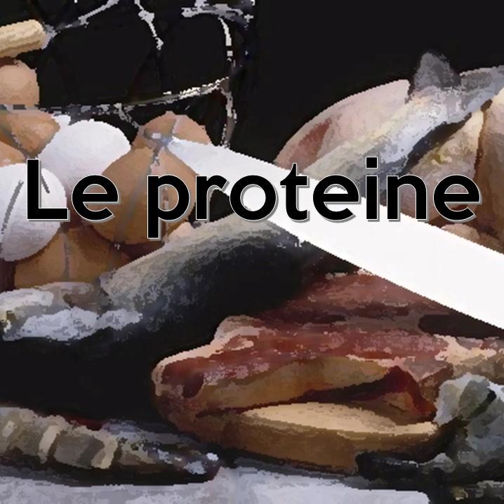 Le proteine sono formate da lunghe catene di α-amminoacidi della serie L, uniti tra loro dal legame peptidico: esse costituiscono circa il 15-20% del corpo umano. Le proteine si trovano soprattutto nei muscoli, nelle ossa, nelle unghie e nei capelli.