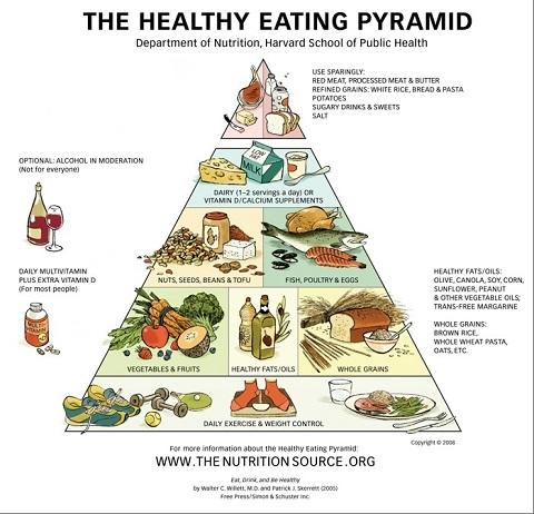 la nuova piramide del mangiare sano