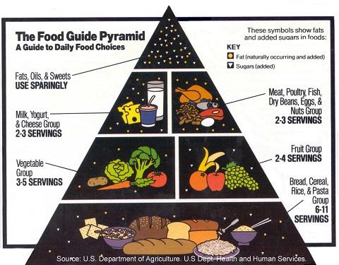 PIRAMIDE USDA dell'alimentazione americana