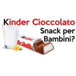 Kinder Cioccolato: lo Snack per Bambini?