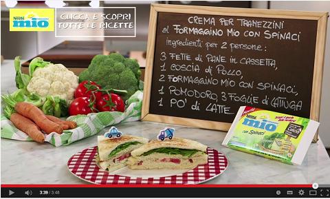 ricetta tramezzini con formaggino mio agli spinaci. benedetta parodi