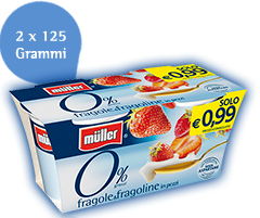 Muller 0% Frutta e Gusti Fragola e Fragoline