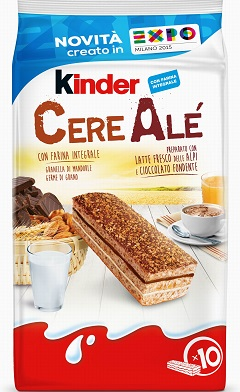 kinder cerealè latte e cioccolato