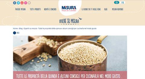 quinoa misura