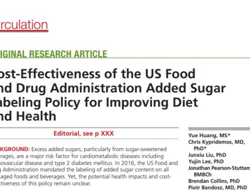 Zucchero sulle Etichette: migliora la Salute